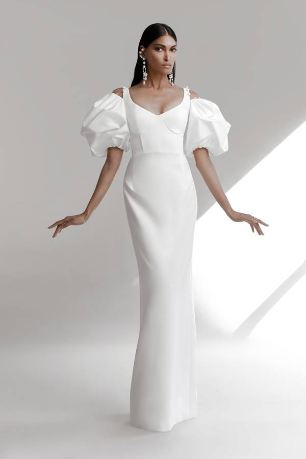 Vestido de noiva da coleção A Love Letter (Bridal 2022), da marca Prabal Gurung