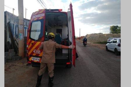 Viatura do Corpo de Bombeiros de Goiás em atendimento