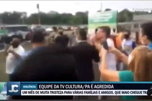 Equipe da TV Cultura é agredida em evento com Bolsonaro