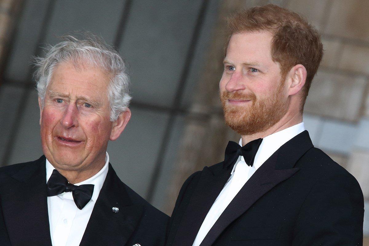 Príncipes Charles e Harry