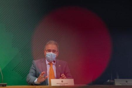 Marcelo Queiroga durante reunião do Comitê de Enfrentamento à Covid no Planalto1
