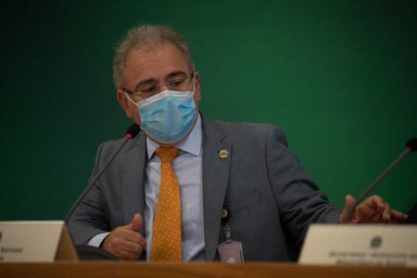 Marcelo Queiroga durante reunião do Comitê de Enfrentamento à Covid no Planalto6