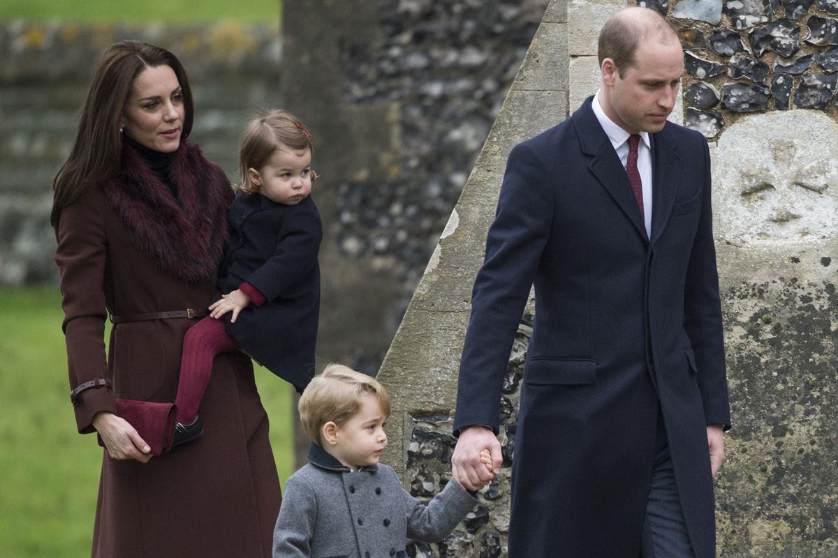 Príncipe George, Kate Middleton, príncipe William e princesa Charlotte