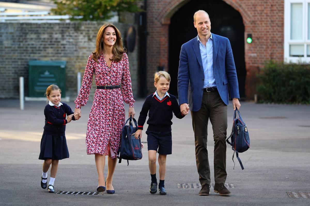 Princesa Charlotte, Kate Middleton, príncipes George e William