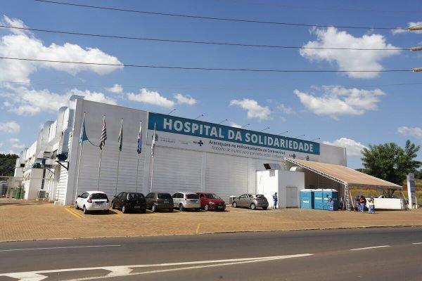 Fachada do Hospital da Solidariedade, unidade de campanha construída para atendimento exclusivo a pacientes com Covid-19