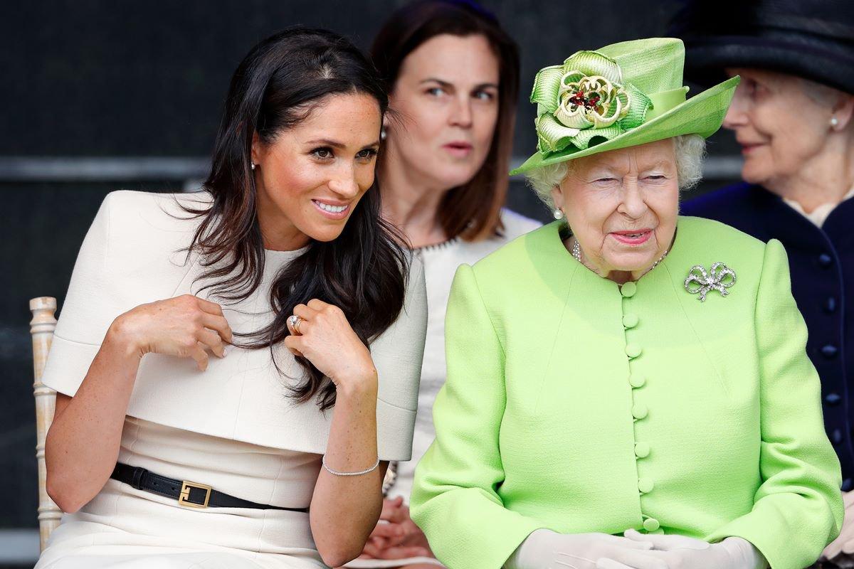 Meghan Markle e a rainha Elizabeth