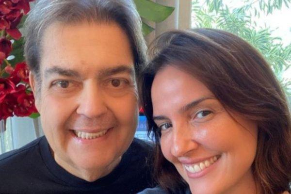 Faustao e Luciana Cardoso, sua esposa