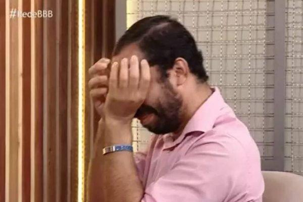 Gil chorando no Rede BBB