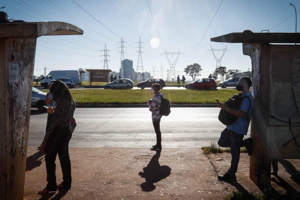 Greve dos rodoviários em Taguatinga