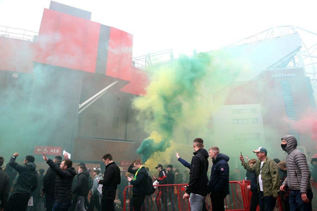 Protesto da torcida do Manchester United