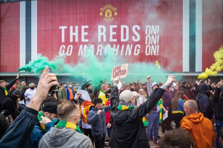Protesto da torcida do Manchester United