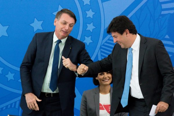 Mandetta durante posse no governo bolsonaro 1