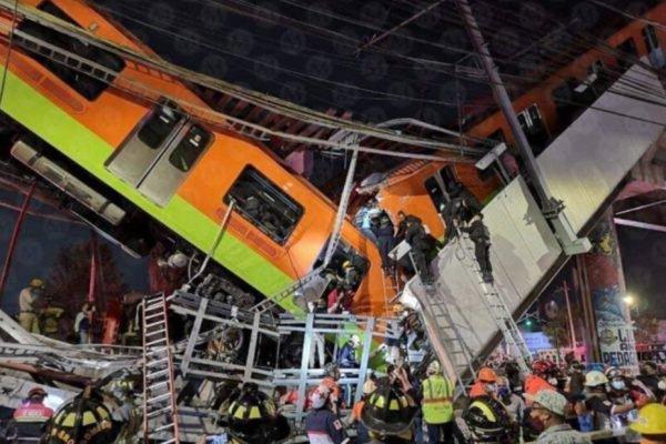 Acidente no metrô da Cidade do México