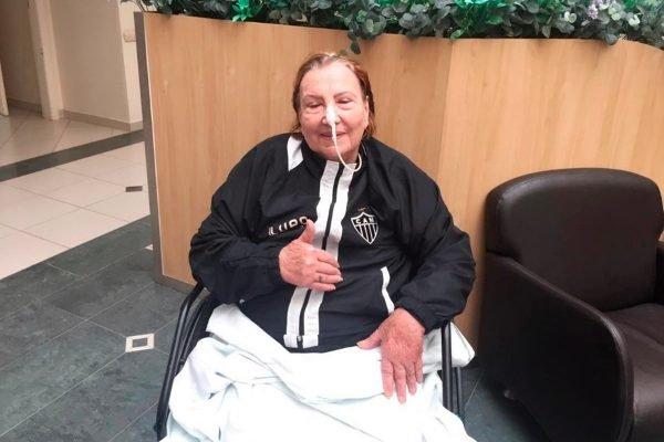 Dona Nilde, mãe de Cuca, técnico do Atlético-MG