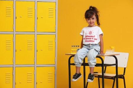 Criança em campanha da marca Chico Rei