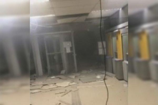 Agência explodida na Bahia
