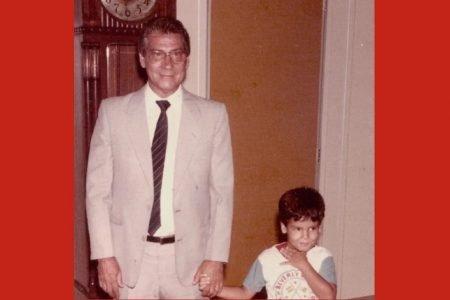 Bruno Covas com o avô, o ex-governador Mario Covas, em 1985
