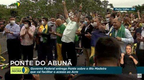 Bolsonaro em cerimônia de inauguração