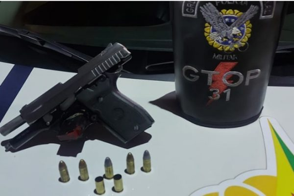 pistola apreendida