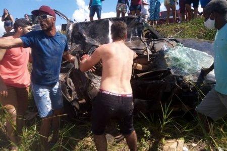 Acidente de trânsito em Linhares, no Espírito Santo, que matou Silvana Maria Faquim Belúcio Simon