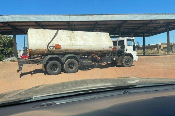 goias caminhão com carga adulterada de massa asfaltica