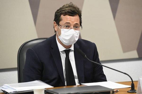 Fabio Wajngarten na CPI da Covid