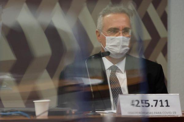 oitiva do ex-secretário das Comunicações Fabio Wajngarten e Renan Calheiros
