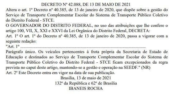 Decreto transporte