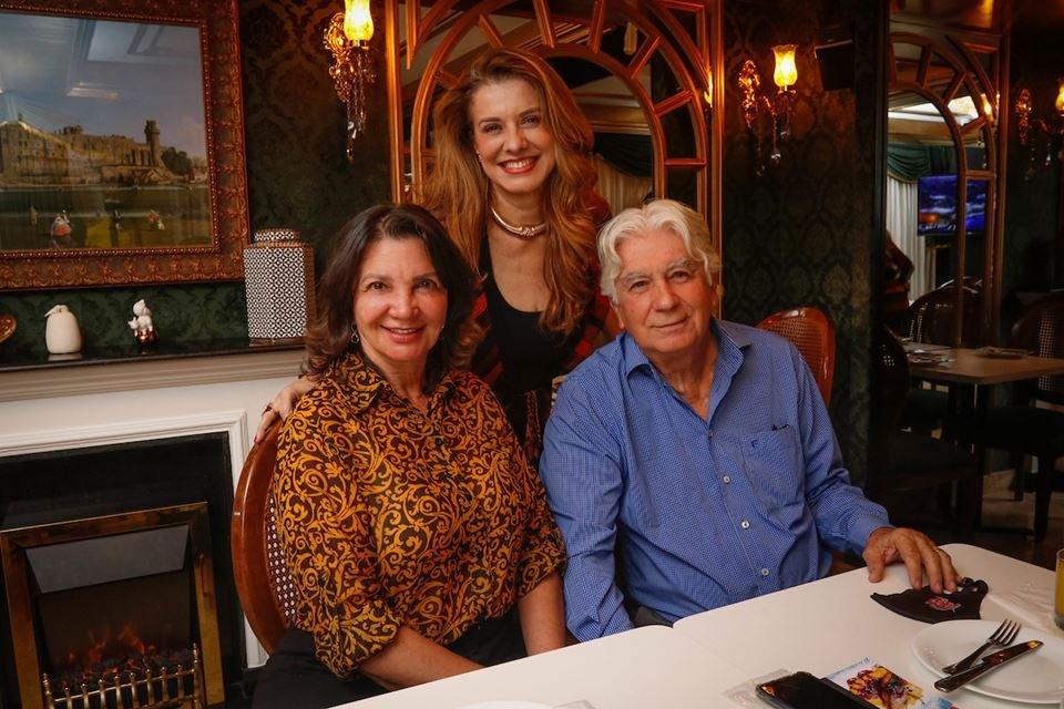 Shirley Pontes, Leninha Camargo e Francisco Humberto