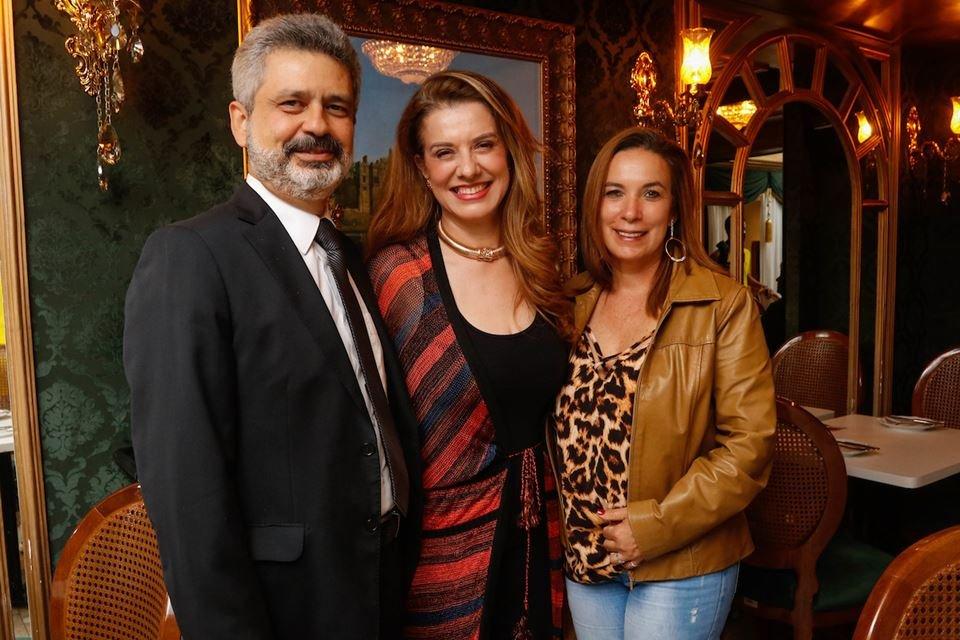 Cláudio Corrêa, Leninha Camargo e Ilva Monsueth