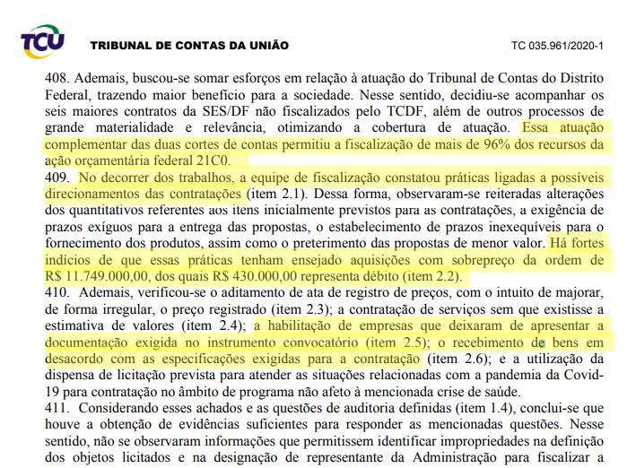 TCU aponta irregularidades em uso de verba da União pelo GDF