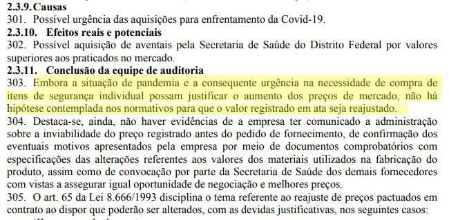 TCU aponta irregularidades na compra de EPIS pelo GDF