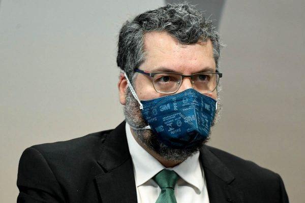 Ernesto Araújo na CPI da Covid