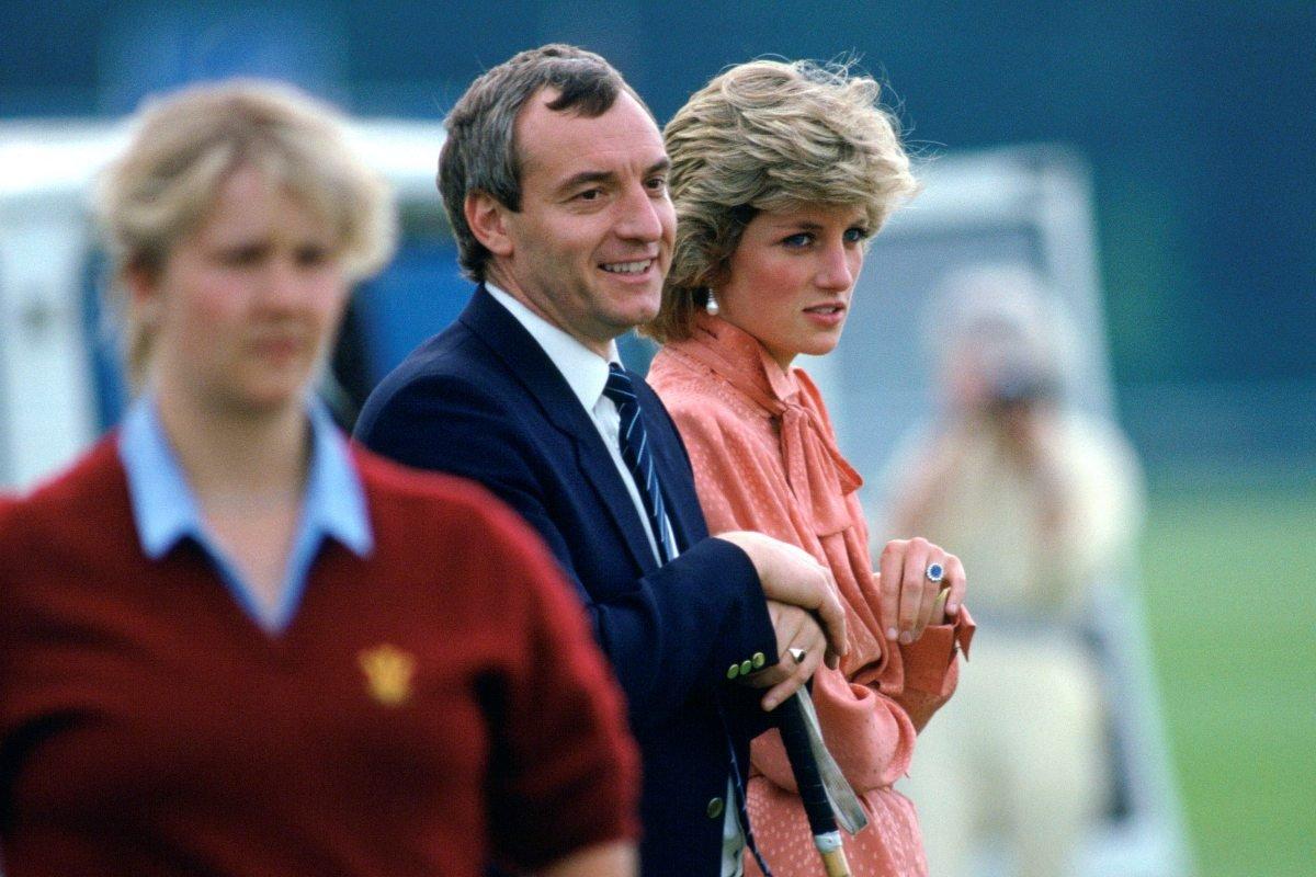 Barry Mannakee com a princesa Diana