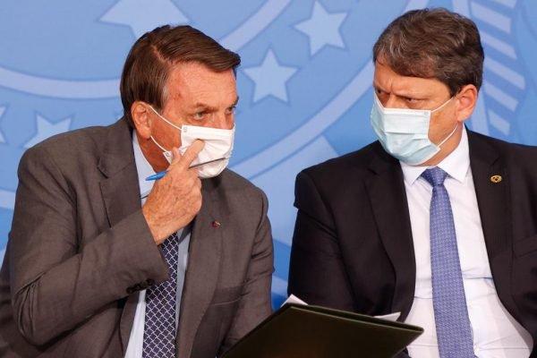 Presidente Bolsonaro e Tarcísio Gomes de Freitas, Ministro da infraestrutura