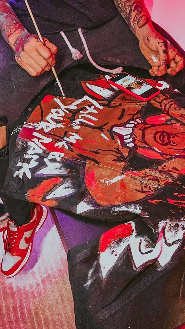 Customização de Rômulo Deu Cria para o rapper Lil Nas X