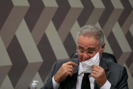 Senador Renan Calheiros na CPI da Pandemia