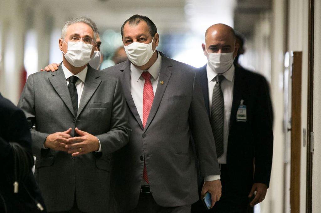 Senadores Renan Calheiros e Osmar AzizCPI COVID SENADO FEDERAL ex ministr pazuello_-3
