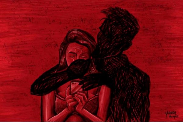mulher sendo agarrada