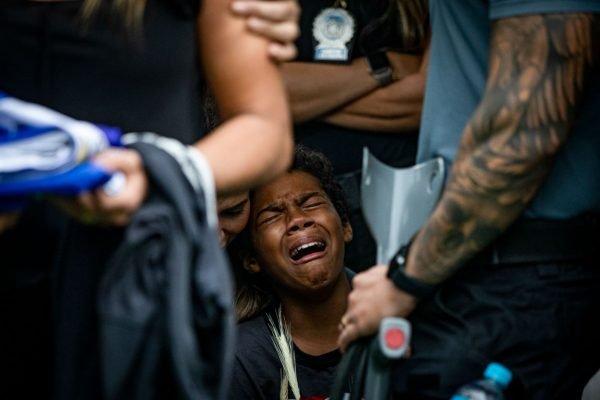 Rio de Janeiro RJEnterro do Policial Civil André Frias que levou um tiro na cabeça durante operação que resutou na morte de 28 suspeitos no Jacarezinho