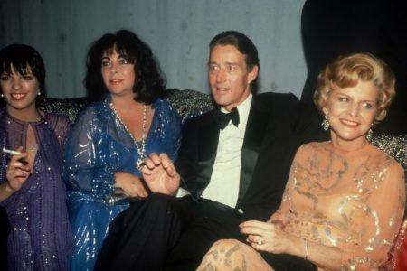 Liza Minnelli, Elizabeth Taylor, Halston and Betty Ford at Studio 54 circa 1979 in New York City