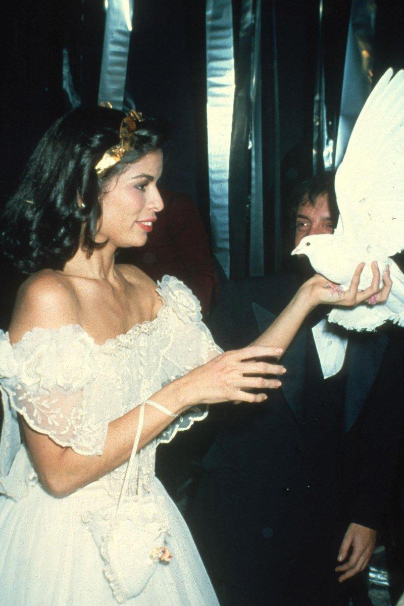 Atriz e modelo Bianca Jagger em uma festa no Studio 54, em 1997