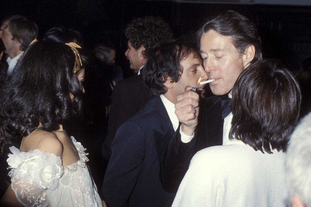 Bianca Jagger, Steve Rubell, Halston e Liza Minnelli no Studio 54