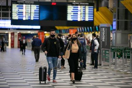 Movimentação de passageiros no aeroporto de Congonhas, em outubro de 2020