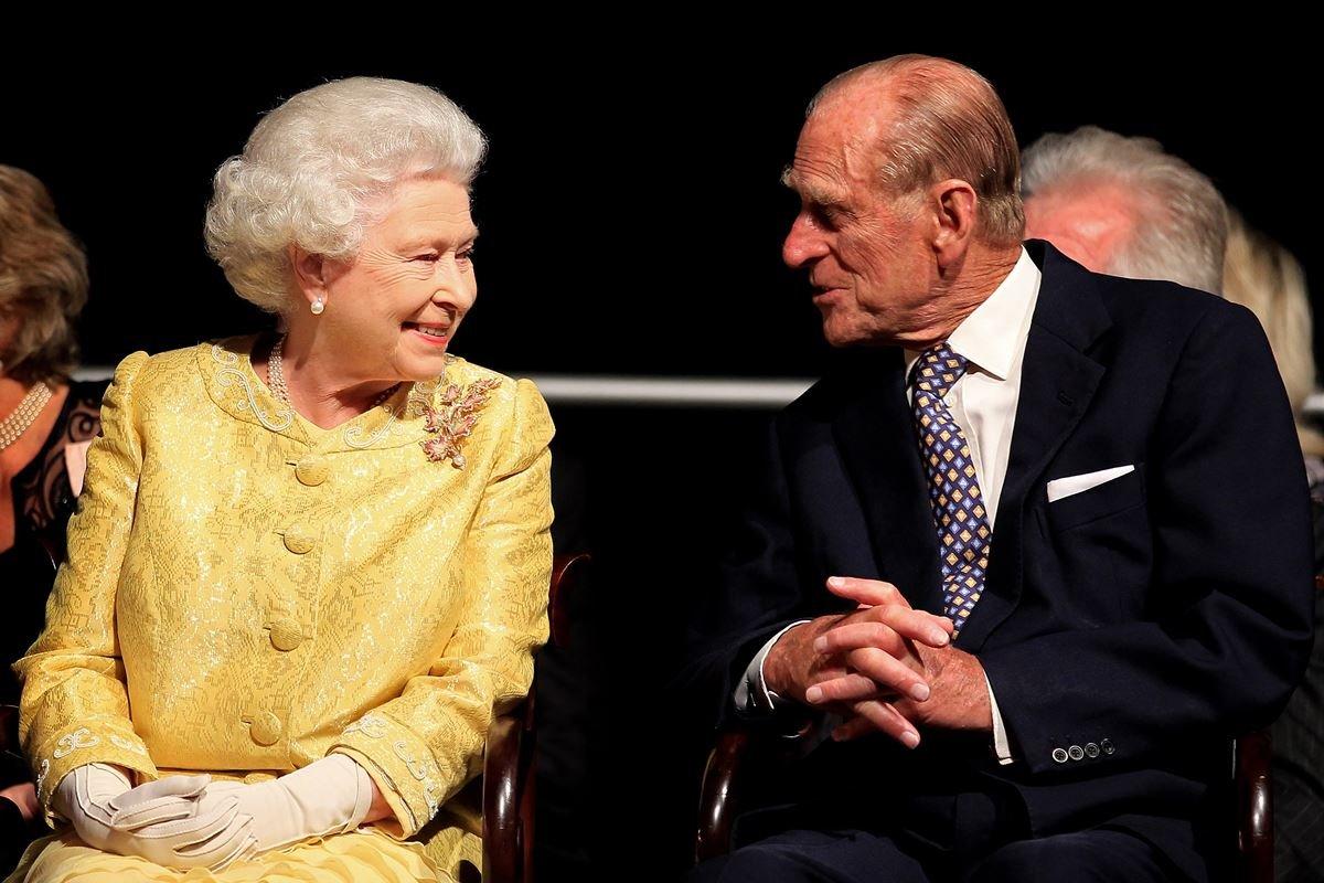 Rainha Elizabeth e príncipe Philip