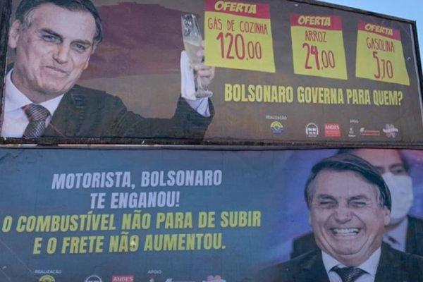 Cartazes ficam em Sinop, no Mato Grosso