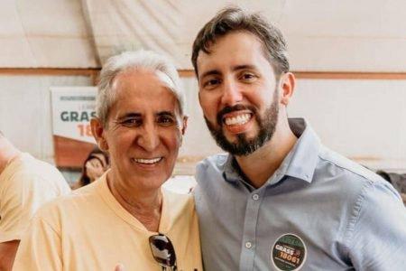 Leandro Grass e o pai