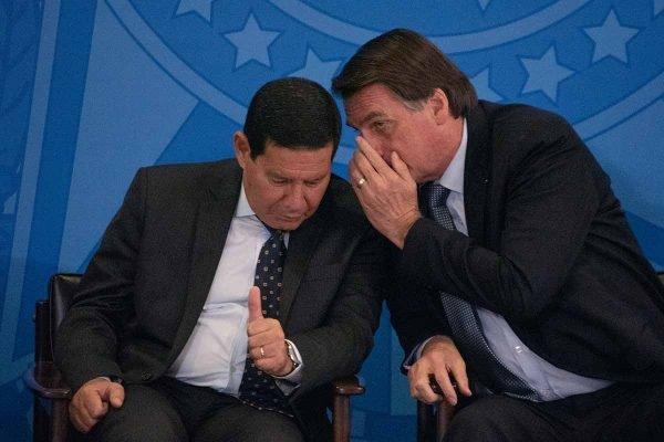 o presidente Jair Bolsonaro (PSL) e Vice Hamilton Mourao