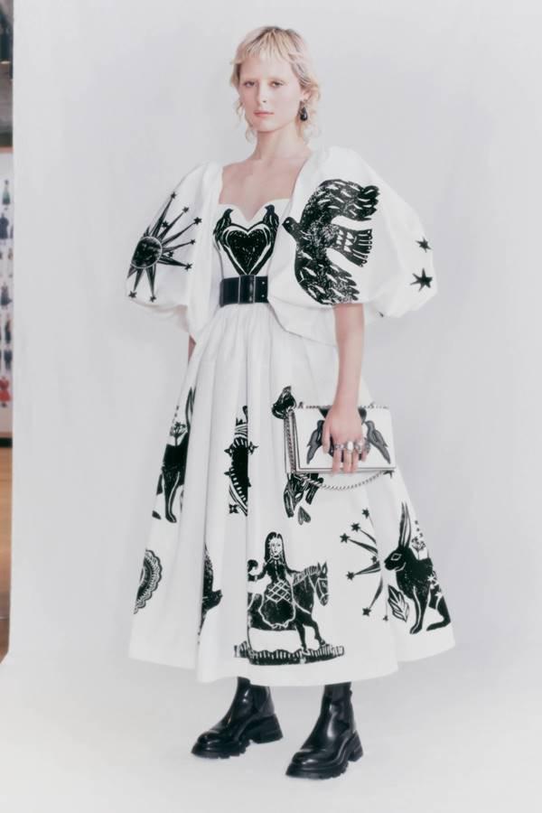 Alexander McQueen vestido do PreFW21 feminino