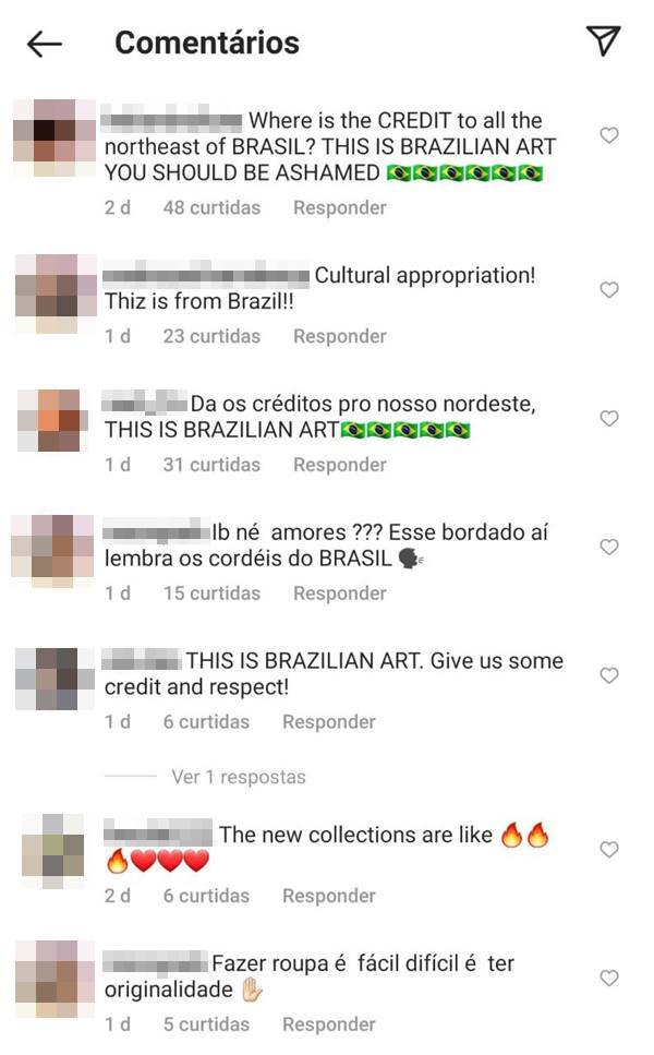Captura de tela do Instagram